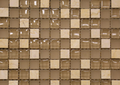 Red Stick Glass Country Club Creme Mosaic