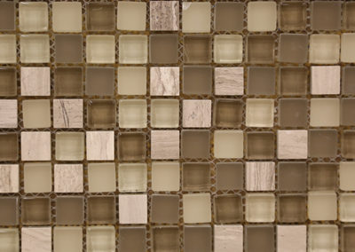 Red Stick Glass Garden District Taupe Mosaic